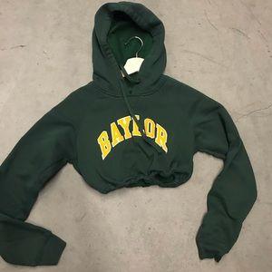 Baylor drawstring crop hoodie